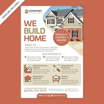 Hausreparatur-service-poster-werbung im flachen design-stil