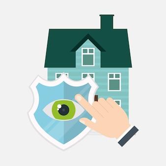 Haussicherheit schild schutz haus