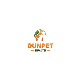 Haustier-logos für die gesundheit im alter