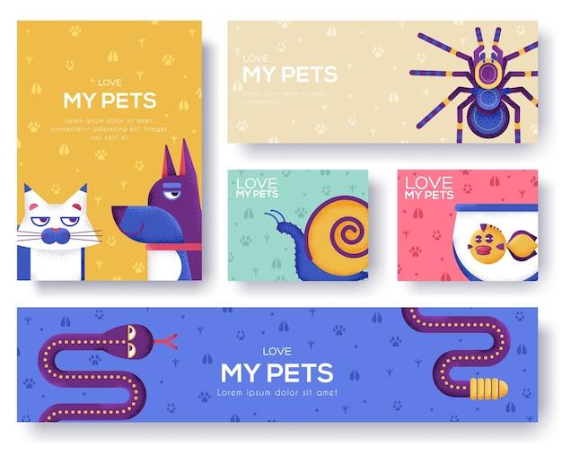 Haustiere banner vorlage