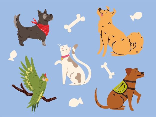 Haustiere tiere set