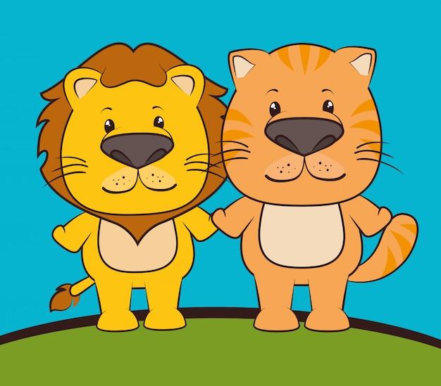 Haustiere und tierkarikaturen