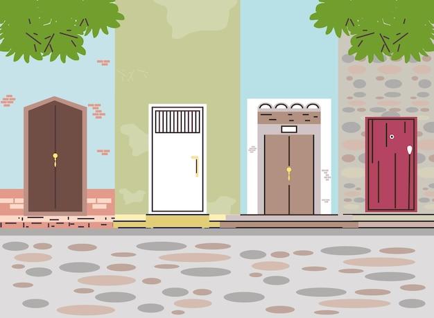 Haustüren in der nachbarschaft