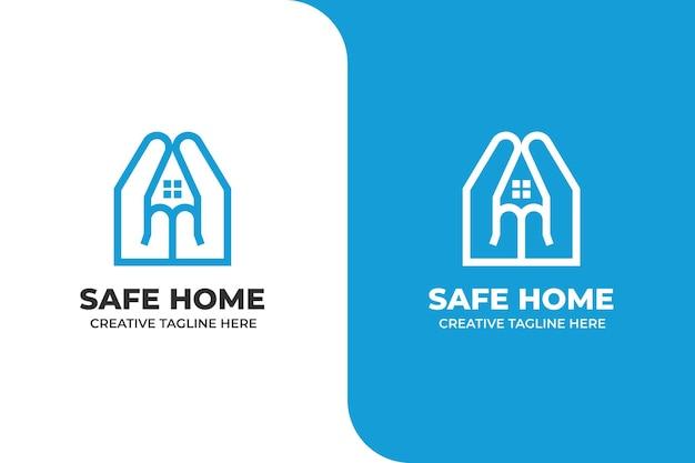 Hausversicherungsschutz gebäude logo