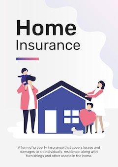 Hausversicherungsvorlage für poster