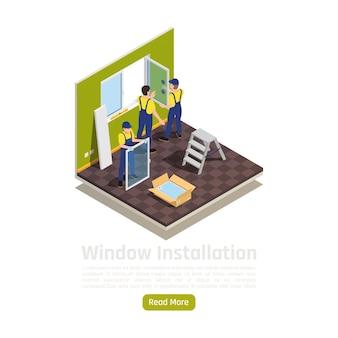 Hauswohnungsraumrenovierung isometrische innenansicht