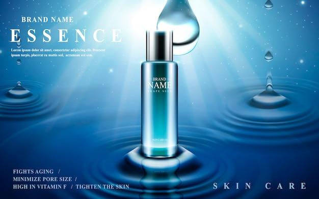Hautpflege-essenz in glasflasche enthalten