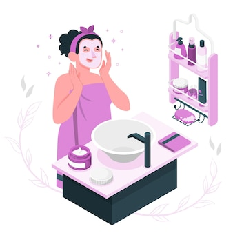 Hautpflege-konzeptillustration