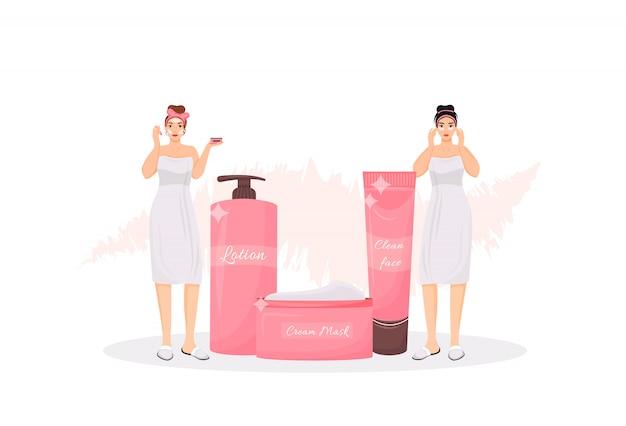 Hautpflege-routinekonzept