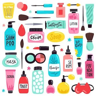 Hautpflege- und make-up-illustration