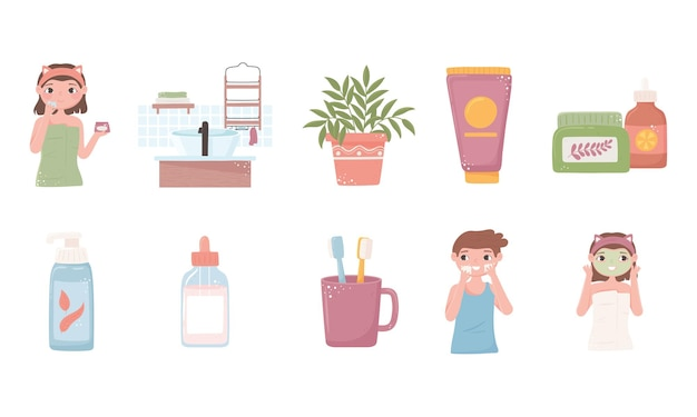 Hautpflegebehandlung bio-produkte