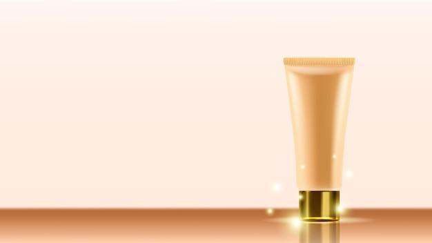 Hautpflegecreme kosmetik tube kopie raum vektor