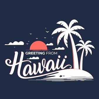 Hawaii schriftzug