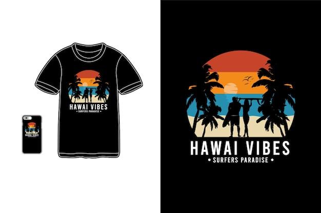 Hawaii vibes t-shirt merchandise silhouette