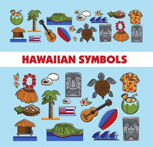 Hawaiianische berühmte symbole