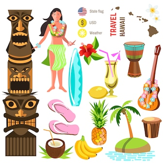 Hawaiianische symbole und symbole festgelegt