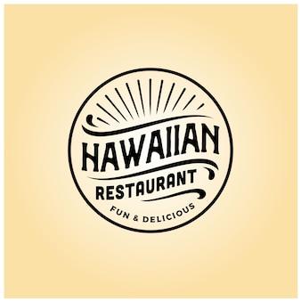 Hawaiianisches restaurantabzeichen