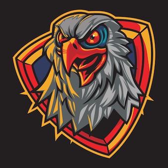 Hawk eyes esport logo illustration