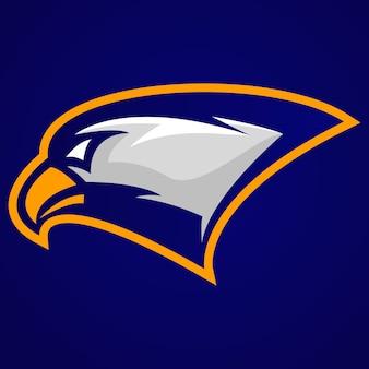 Hawk kopf maskottchen-logo