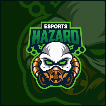 Hazard maskottchen logo design