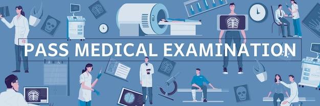 Header der medizinischen untersuchung