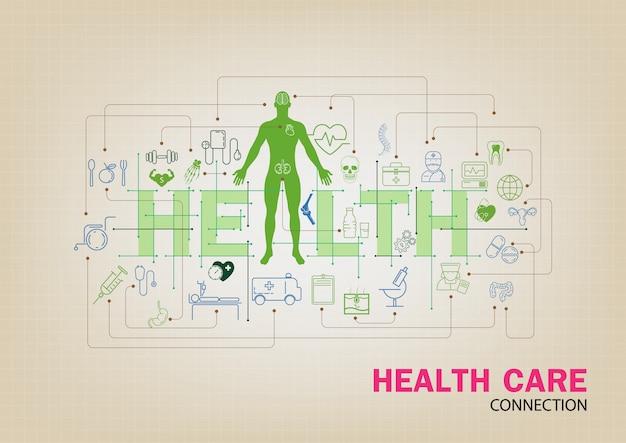 Health care-schriftzug