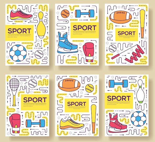 Health lifestyle lineare vorlage von flyear, zeitschriften, plakaten, buchcover, banner.
