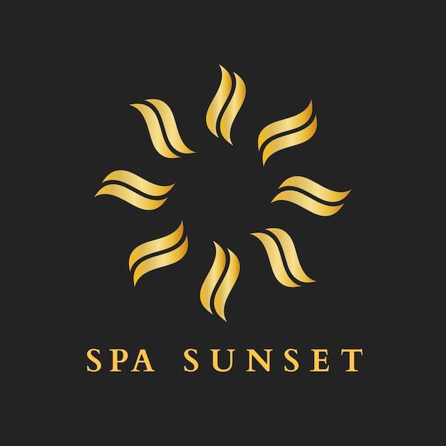 Health spa gold logo vorlage, moderner kreativer designvektor
