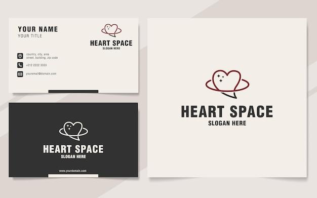 Hearth space logo-vorlage im monogramm-stil