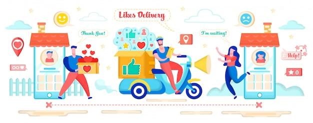 Hearts delivery zur erhöhung der bekanntheit des profils.