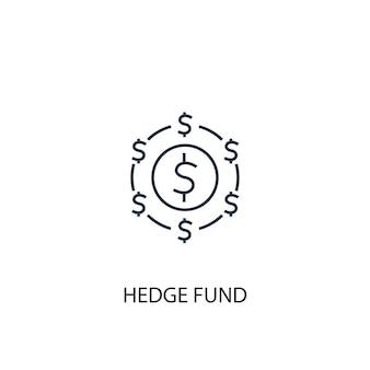 Hedge-fonds-konzept-liniensymbol einfache elementillustration hedge-fonds-konzept