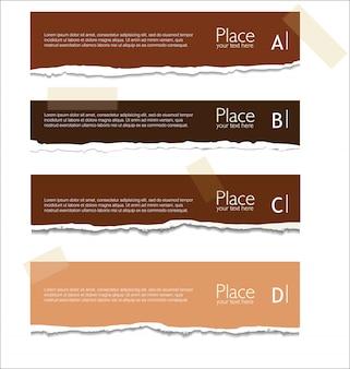 Heftiger papierhintergrund mit platz für text