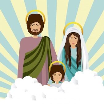 Heilige familie illustration