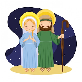 Heilige familie mit eselkarikatur