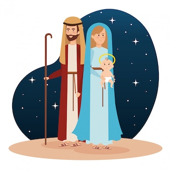 Heilige familienkrippenfiguren