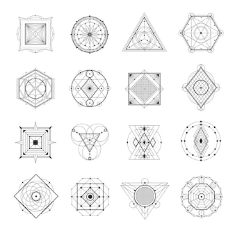 Heilige geometrie eingestellt