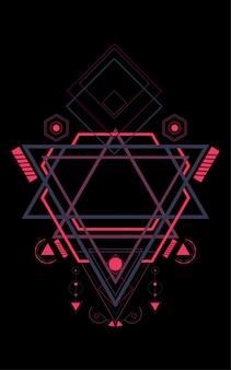 Heilige geometrie muster