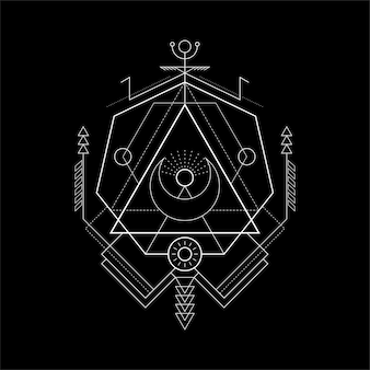 Heilige geometrie tirangle magie