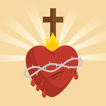 Heilige jesus herz-symbol