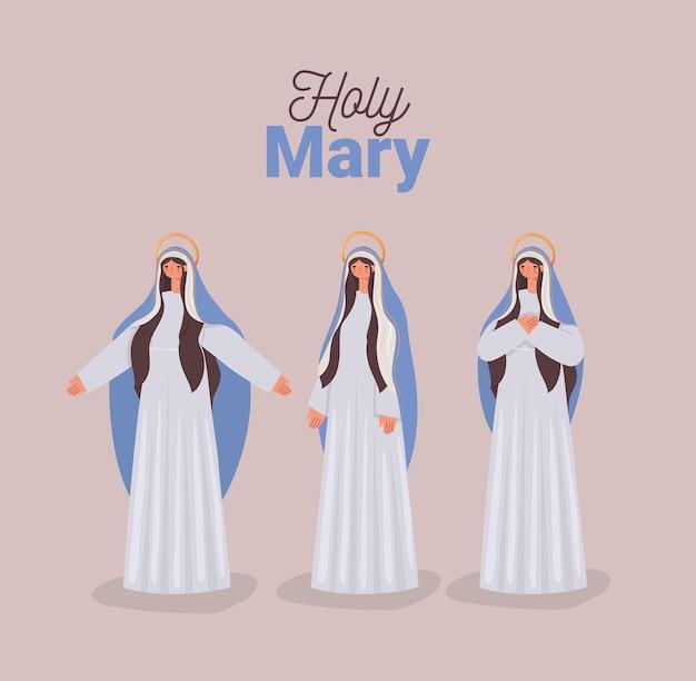 Heilige maria karte m
