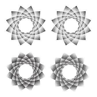 Heilige phyllotaxis geometrie des abstrakten punktsymbols.
