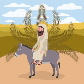 Heilige woche biblische szene