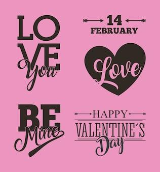 Heiliger valentinsgrußsatz