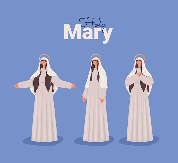 Heiliges maria-poster