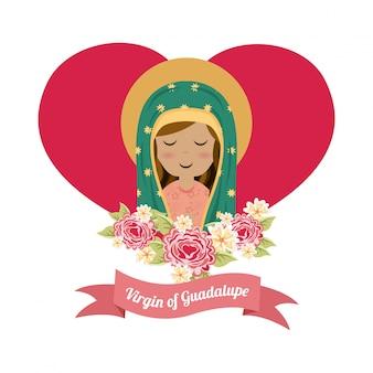 Heiliges Mary-Design über weißer Hintergrundvektorillustration