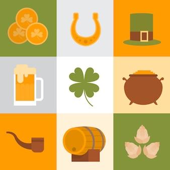 Heiliges patrick day beer festival banner grußkarte