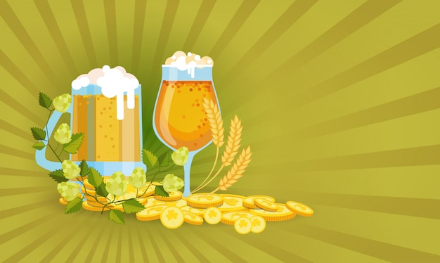 Heiliges patrick day beer festival-illustration