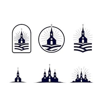 Heiliges weinlese-logo