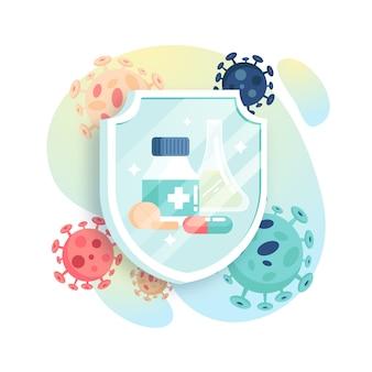 Heilung für neues Virenkonzept
