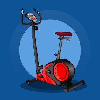 Heimtrainer-symbol. stationäres fahrrad. sportausrüstung. fitness-design. illustration